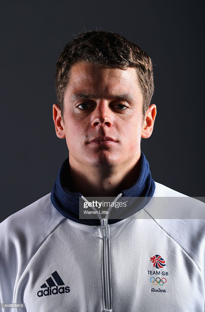 A portrait of Jonny Brownlee a member of the Great Britain Olympic team during the Team GB Kitting Out ahead of Rio 2016 Olympic Games on June 29...
