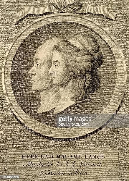 Portrait of Joseph Lange German actor with his wife Aloysia Louise Antonia Weber Vienna Historisches Museum Der Stadt Wien