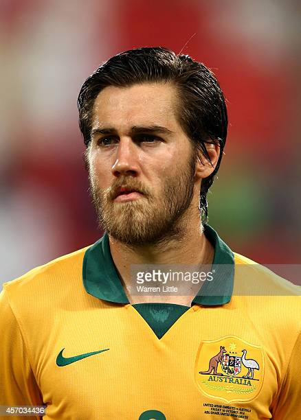A portrait of Josh Brillante of Australia ahead of the international friendly between the UAE and Australia at Mohamed Bin Zayed Stadium on October...