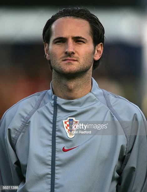 A portrait of Josip Simunic of Croatia team prior to the 2006 World Cup qualifying match between Iceland and Croatia at Laugardalsvollur Stadium on...