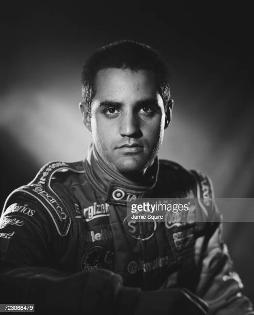 A portrait of Juan Pablo Montoya of Colombia driver of the Target Chip Ganassi Racing Lola B2K/00 Toyota RVA during testing for the Championship Auto...