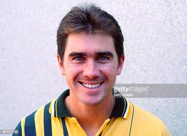 A portrait of Justin Langer of Australia