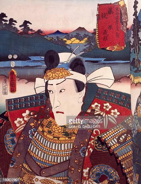 Portrait of Kabuki theater actor ukiyoe by Utagawa Toyokuni woodcut Japanese civilization Edo period