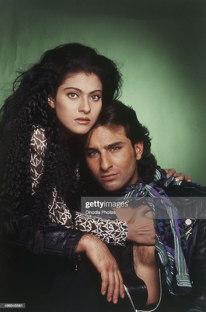 Portrait of Kajol and <a gi-track='captionPersonalityLinkClicked' href=/galleries/search?phrase=Saif+Ali+Khan&family=editorial&specificpeople=3117032 ng-click='$event.stopPropagation()'>Saif Ali Khan</a>.