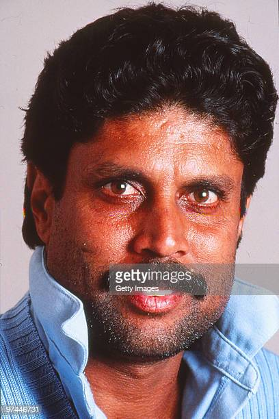 A portrait of Kapil Dev of India
