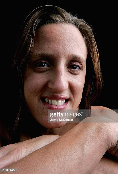 A portrait of Karen Pickering a member of the Great Britain Swimming Team during the kitting out of the British Olympic Team for the 2004 Olympic...