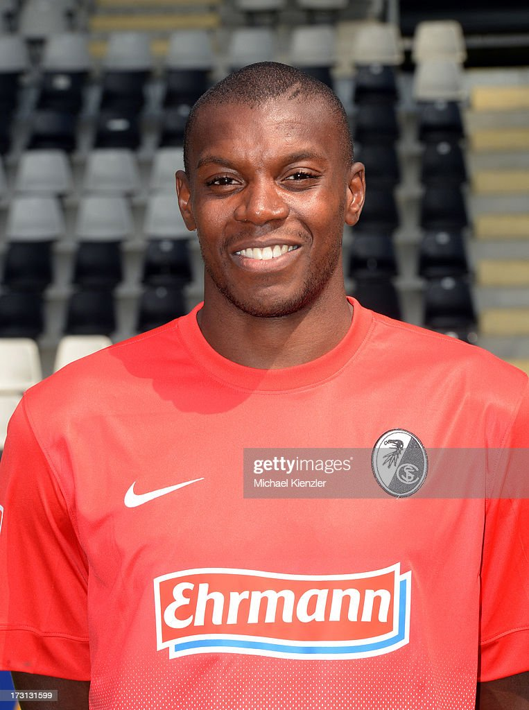 Portrait of Karim Guede taken during the SC Freiburg Team Presentation at MAGE SOLAR Stadium on July 5, 2013 in Freiburg, Germany.