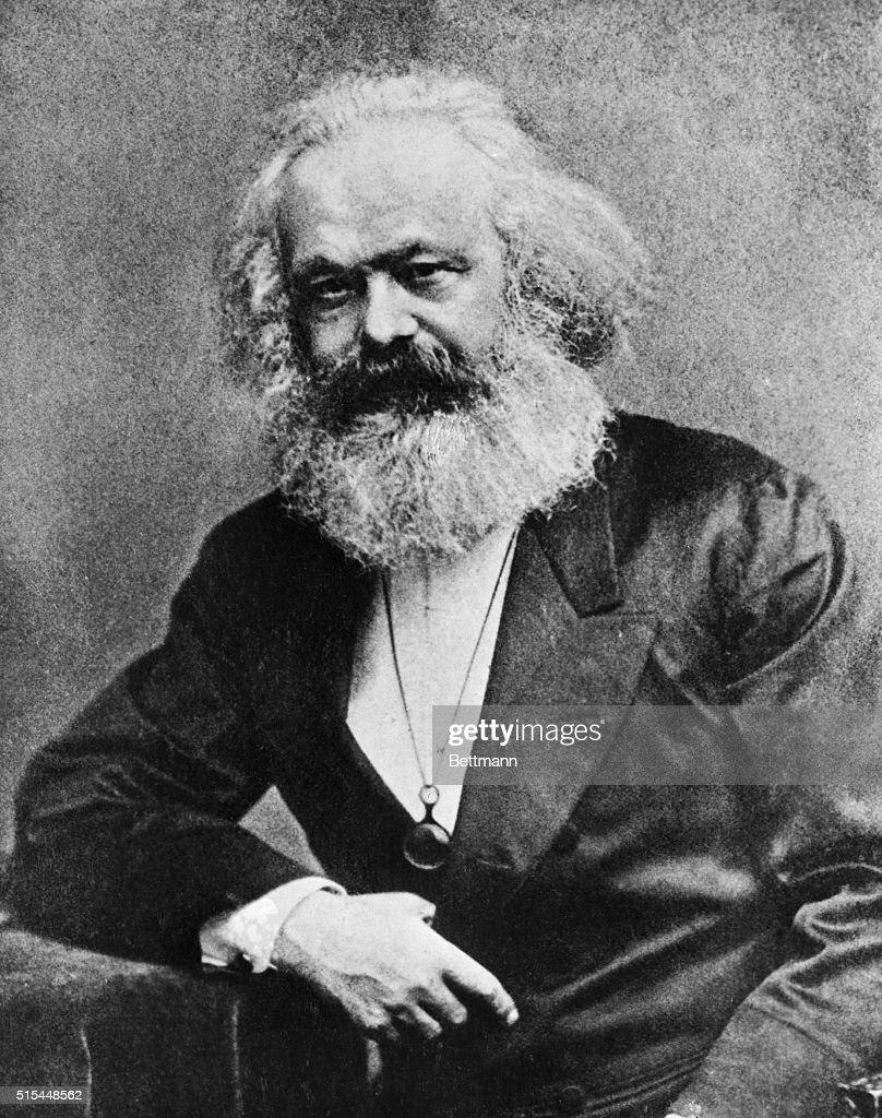 Portrait of Karl Marx (1818-1883), German political philosopher. Undated photo.