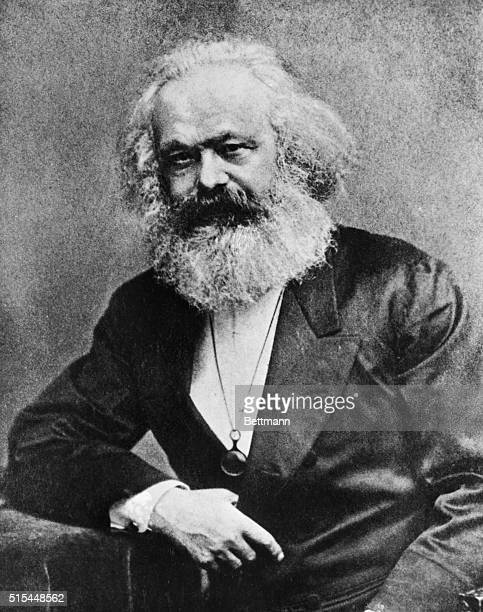 Portrait of Karl Marx German political philosopher Undated photo