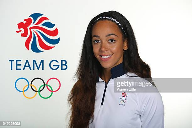 A portrait of Katarina JohnsonThompson a member of the Great Britain Olympic team during the Team GB Kitting Out ahead of Rio 2016 Olympic Games on...