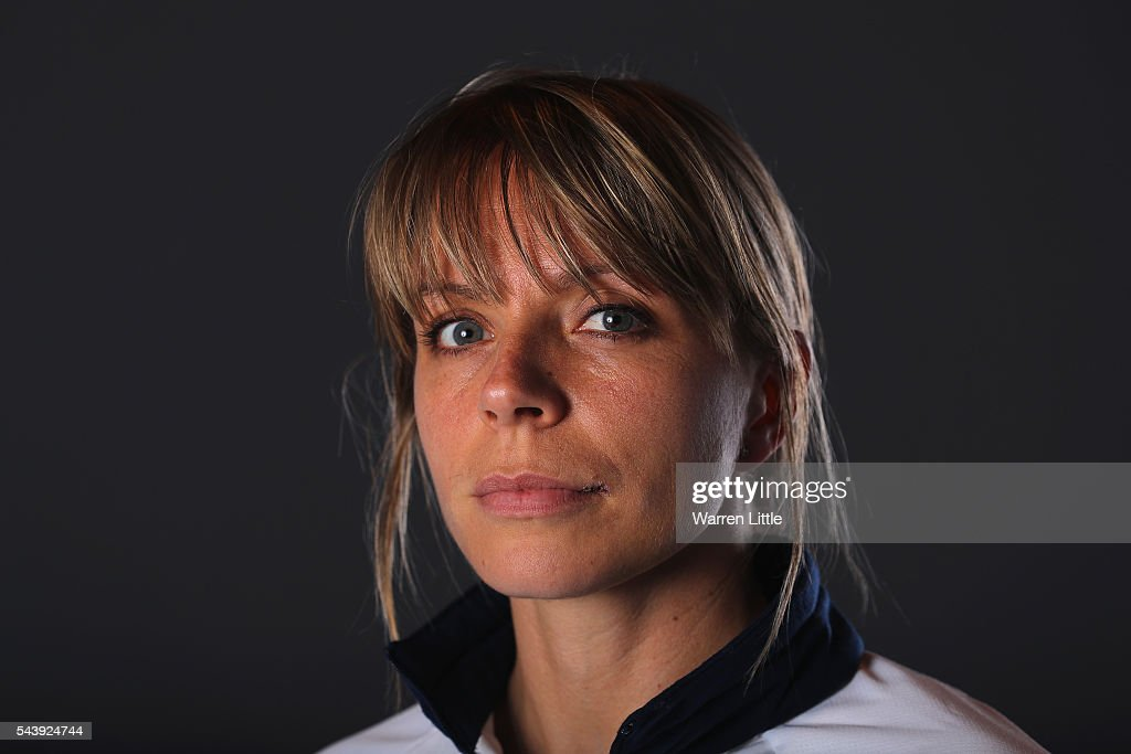 A portrait of <a gi-track='captionPersonalityLinkClicked' href=/galleries/search?phrase=Kate+Richardson-Walsh&family=editorial&specificpeople=13415247 ng-click='$event.stopPropagation()'>Kate Richardson-Walsh</a> a member of the Great Britain Olympic team during the Team GB Kitting Out ahead of Rio 2016 Olympic Games on June 30, 2016 in Birmingham, England.