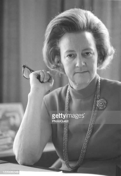 Portrait of Katherine Meyer Graham president of the Washington Post Company Washington DC 1969