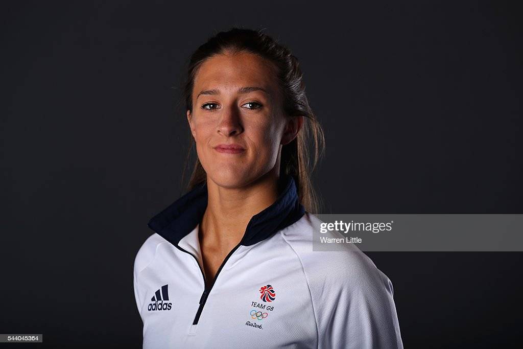 A portrait of <a gi-track='captionPersonalityLinkClicked' href=/galleries/search?phrase=Katie+Clark+-+Swimmer&family=editorial&specificpeople=15990081 ng-click='$event.stopPropagation()'>Katie Clark</a> a member of the Great Britain Olympic team during the Team GB Kitting Out ahead of Rio 2016 Olympic Games on July 1, 2016 in Birmingham, England.