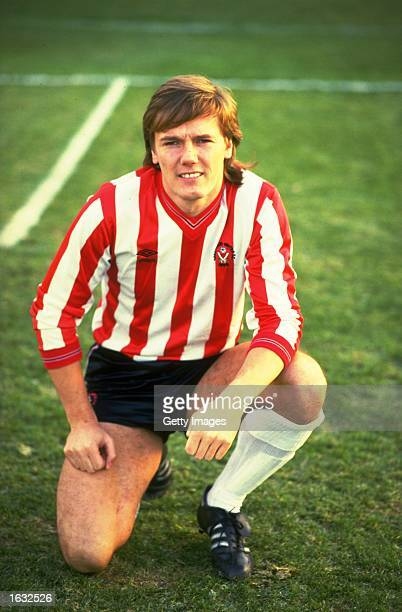 Portrait of Keith Edwards of Sheffield United before the FA Cup Third Round match against Watford at Vicarage Road in Watford England Watford won the...