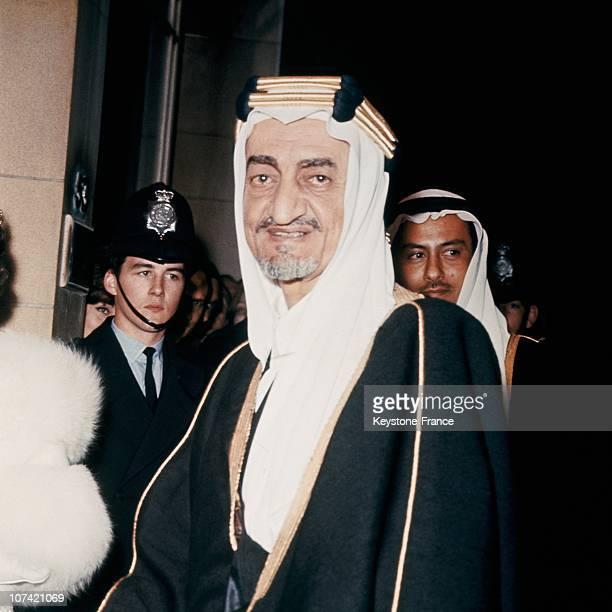 Portrait Of King Faisal Of Saudi Arabia In London
