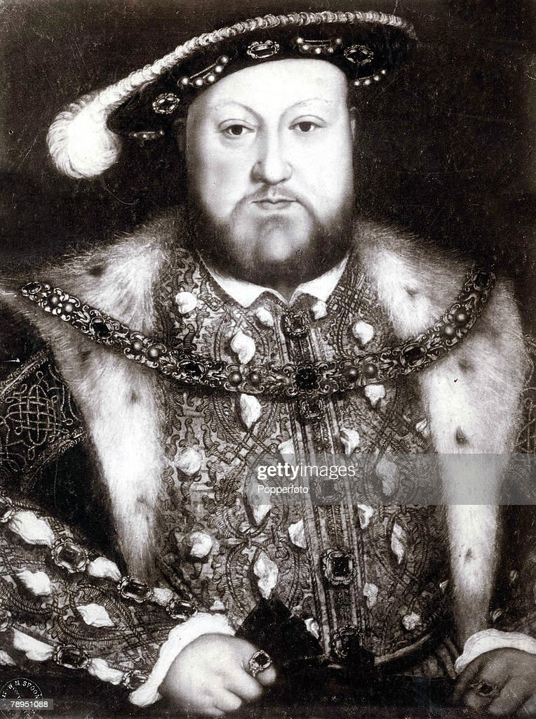 Portrait of King Henry VIII of England, 1491 - 1547, who reigned from 1509 until his death, A painting by Holbein
