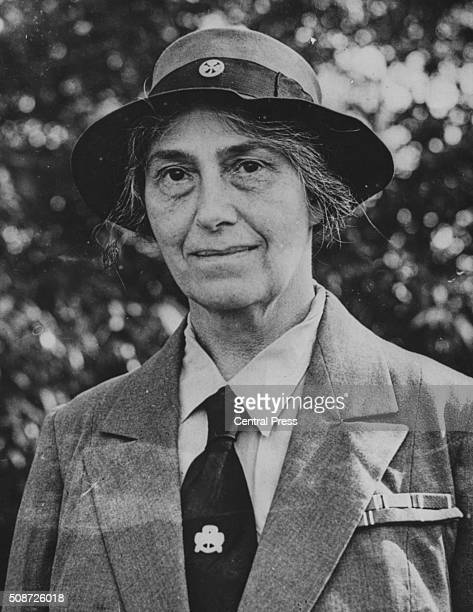 Portrait of Lady Olave BadenPowell the Chief Guide of the World and widow of the founder of the Boy Scout Movement in Melbourne September 13th 1947