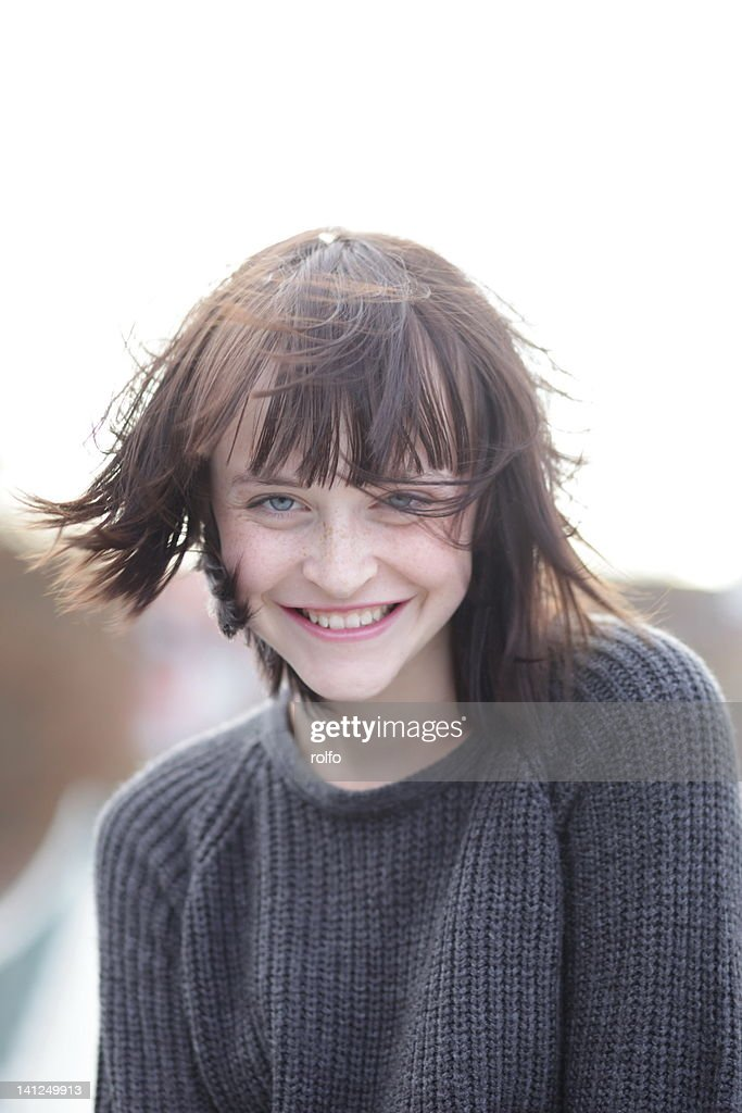 Portrait of laughing  woman : Stock Photo
