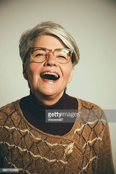 Portrait of laughing woman