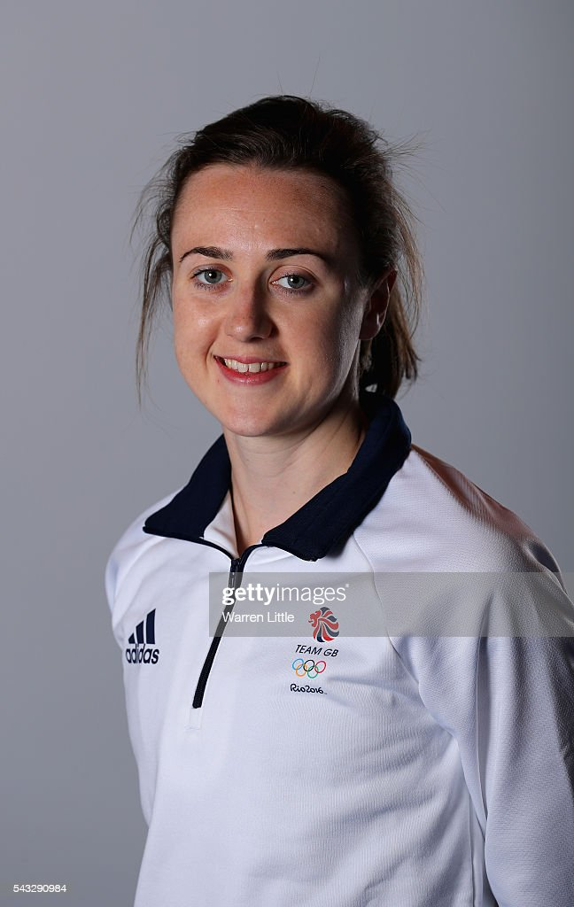 A portrait of <a gi-track='captionPersonalityLinkClicked' href=/galleries/search?phrase=Laura+Muir&family=editorial&specificpeople=9557452 ng-click='$event.stopPropagation()'>Laura Muir</a> a member of the Great Britain Olympic team during the Team GB Kitting Out ahead of Rio 2016 Olympic Games on June 27, 2016 in Birmingham, England.