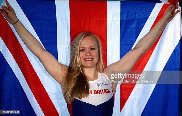 A portrait of Laura Sugar of Great Britain Paralympic Team ahead of the IPC Athletics World Championship at The Torch Hotel on October 16 2015 in...