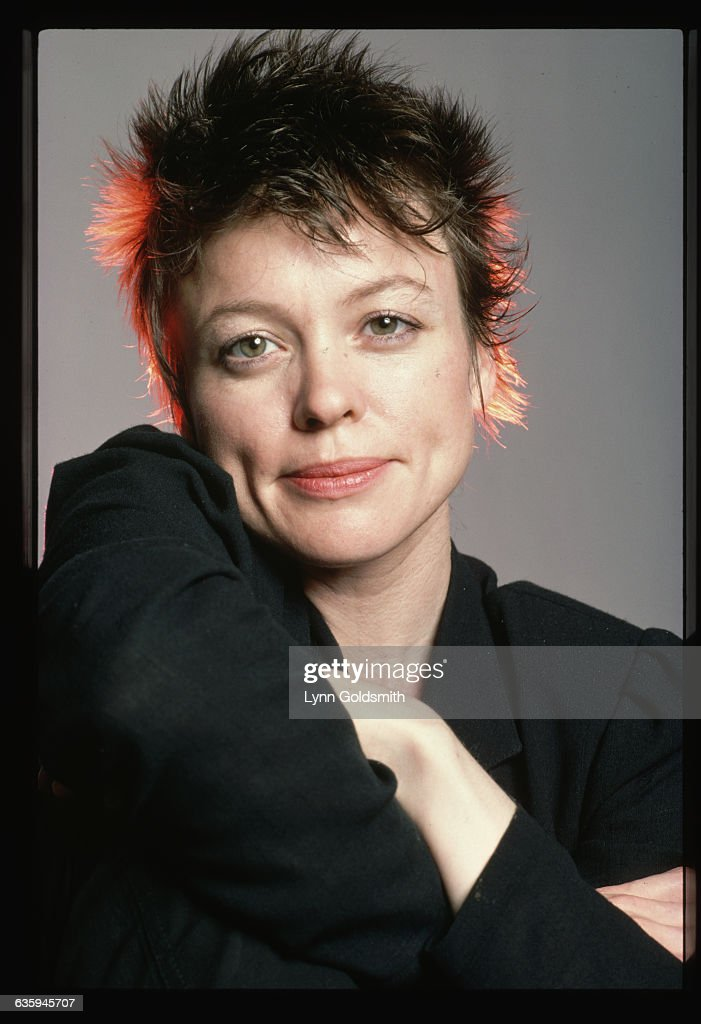 Portrait of Laurie Anderson, musician, writer, and performance artist.