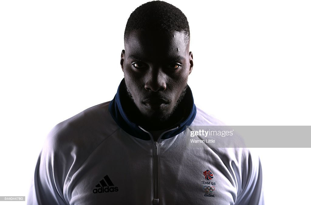 A portrait of <a gi-track='captionPersonalityLinkClicked' href=/galleries/search?phrase=Lawrence+Okolie&family=editorial&specificpeople=15425902 ng-click='$event.stopPropagation()'>Lawrence Okolie</a> a member of the Great Britain Olympic team during the Team GB Kitting Out ahead of Rio 2016 Olympic Games on July 1, 2016 in Birmingham, England.