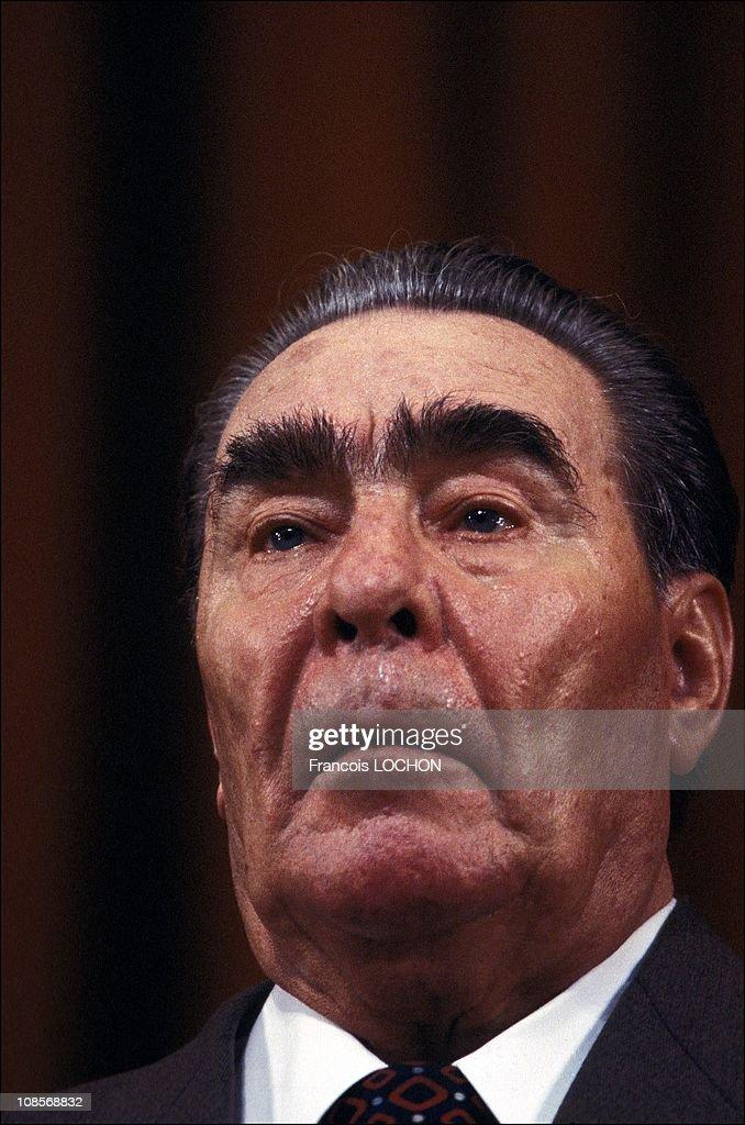 Portrait of Leonid Brejnev.