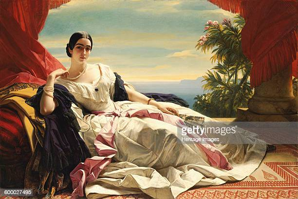 Portrait of Leonilla Ivanovna Baryatinskaya Princess zu Sayn Wittgenstein 1843 Found in the collection of J Paul Getty Museum Los Angeles Artist...