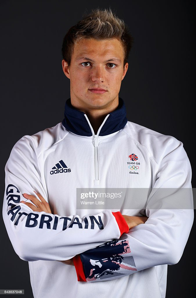 A portrait of Leuan Lloyd a member of the Great Britain Olympic team during the Team GB Kitting Out ahead of Rio 2016 Olympic Games on June 29, 2016 in Birmingham, England.