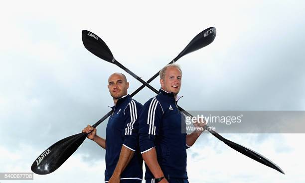 A portrait of Liam Heath and Jon Schofield of Great Britain after an announcement of Canoe Sprint athletes named in Team GB for the Rio 2016 Olympic...