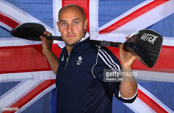 A portrait of Liam Heath of Great Britain after an announcement of Canoe Sprint athletes named in Team GB for the Rio 2016 Olympic Games at Eton...