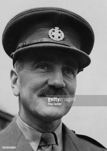 Portrait of Lieutenant Colonel Victor Buller Turner VC printed following his investiture at Buckingham Palace circa 1942