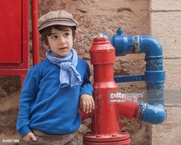 Portrait Of Little Boy In Outdoor