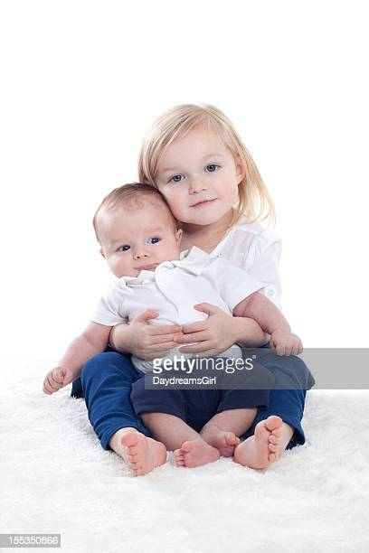 Portrait of Little Girl and Baby Brother