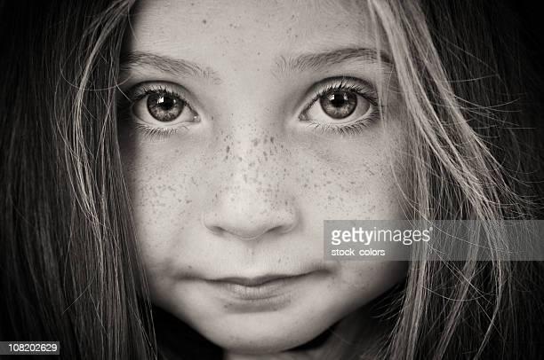 Portrait of Little Girl, Black and White
