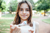 Portrait of little girl holding Ice Cream