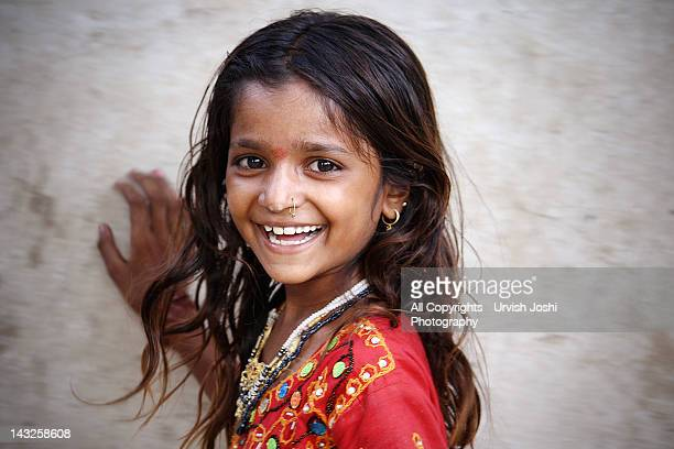 Portrait of little girl smiling