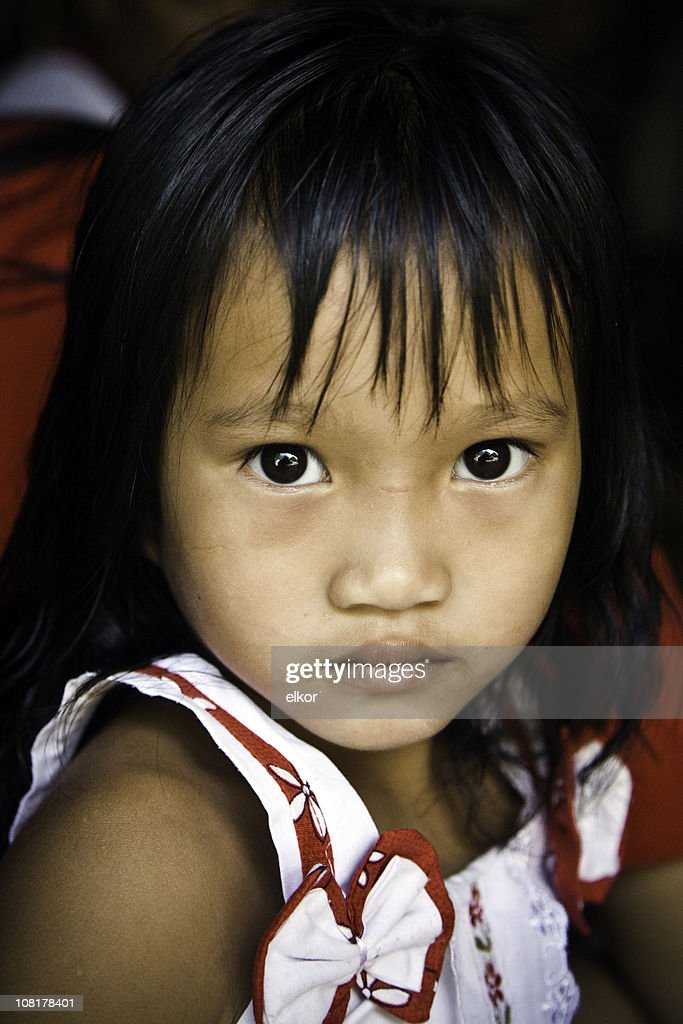 Portrait of Little Malaysian Girl : Stock Photo