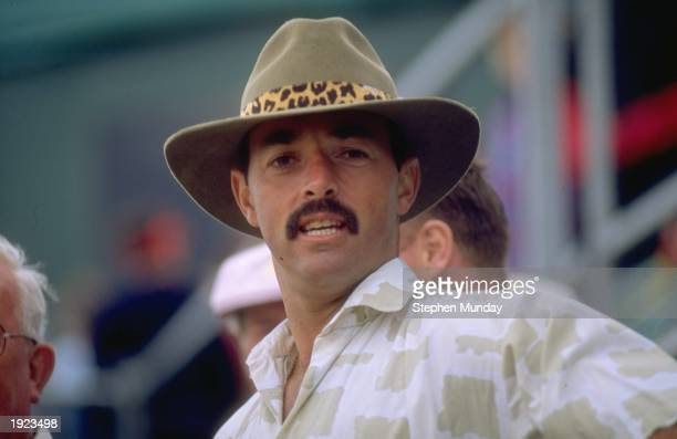 Portrait of Liverpool goalkeeper Bruce Grobbelaar at the British Open Golf Championship in England Mandatory Credit Stephen Munday/Allsport