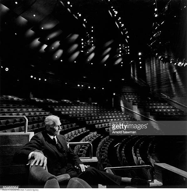 Portrait of Lord Laurence Olivier, British acting legend, at the Olivier Theatre June 14, 1978 in London, England.