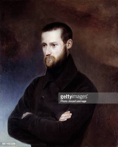 Portrait of Louis Auguste Blanqui politician Painting by Amelie Suzanne Blanqui born Serre 19th century 1835 Oil on canvas 072 x 060 m Carnavalet...