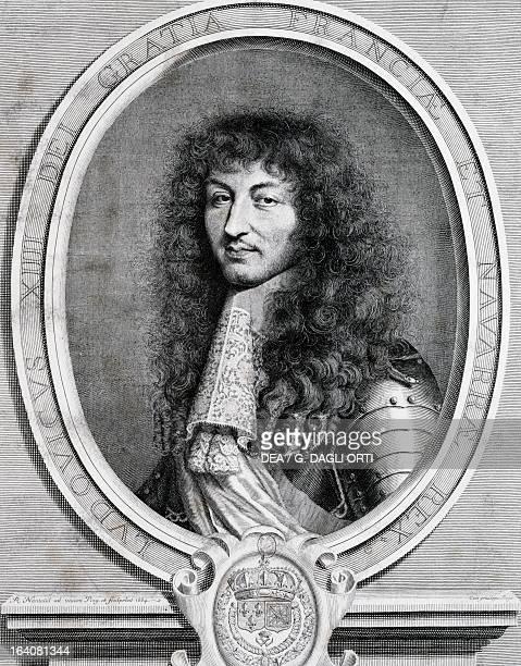 Portrait of Louis XIV of France in 1664 the third king of France and Navarre Print Paris Bibliothèque Des Arts Decoratifs