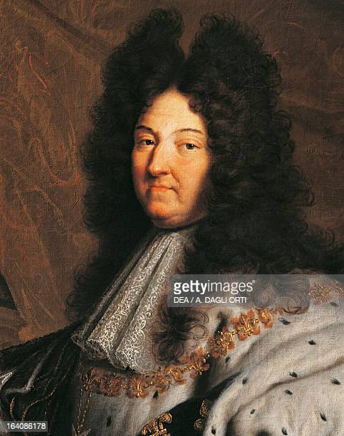 Portrait of Louis XIV of France known as Louis the Great or the Sun King King of France painting by Hyacinthe Rigaud oil on canvas 277x194 cm Detail...