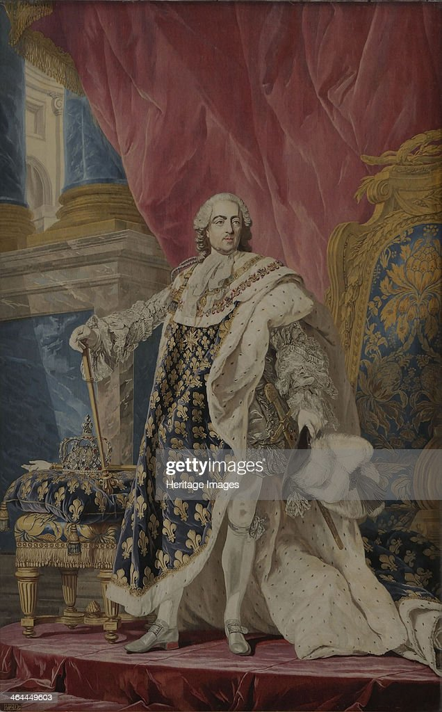 Portrait of Louis XV in his royal costume ca 1769 Found in the collection of the Musée de l'Histoire de France