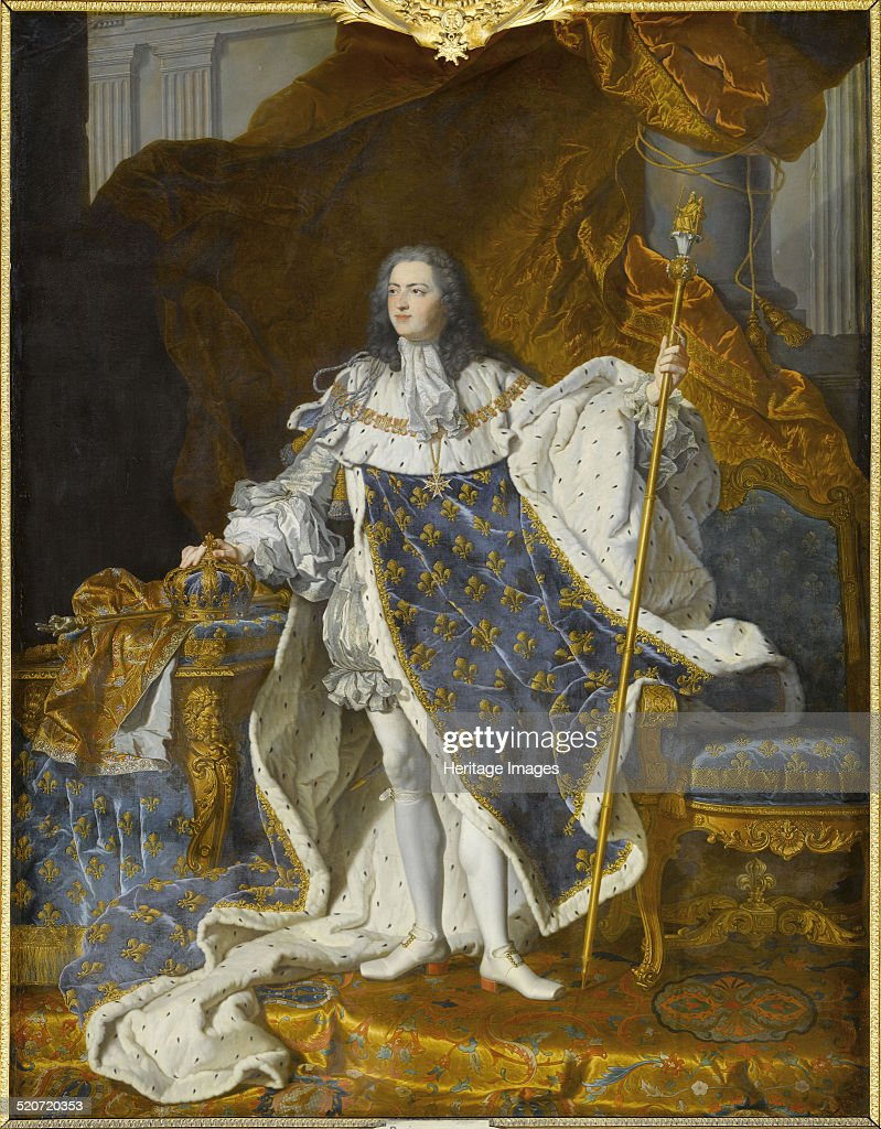 Portrait of Louis XV in his royal costume Found in the collection of Musée Condé Chantilly