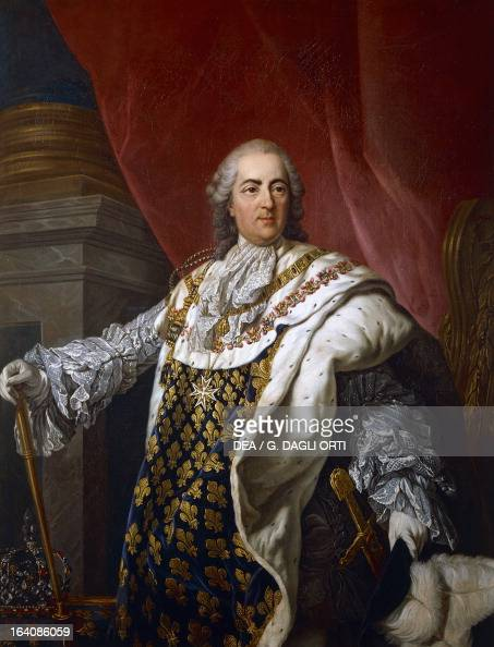 Portrait of Louis XV of France known as The Beloved King of France Painting by Louis Michel van Loo olio on canvas 138x102 cm Versailles Château De...