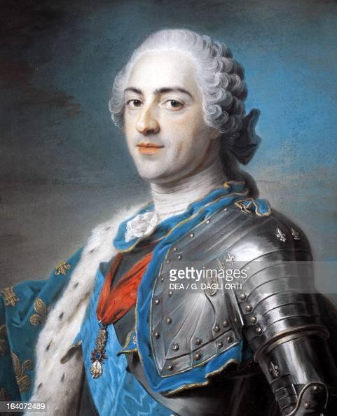 Portrait of Louis XV of France pastel by Maurice Quentin de La Tour 54x64 cm Paris Musée Du Louvre