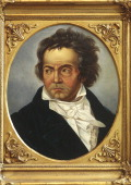 Portrait of Ludwig van Beethoven German composer and pianist