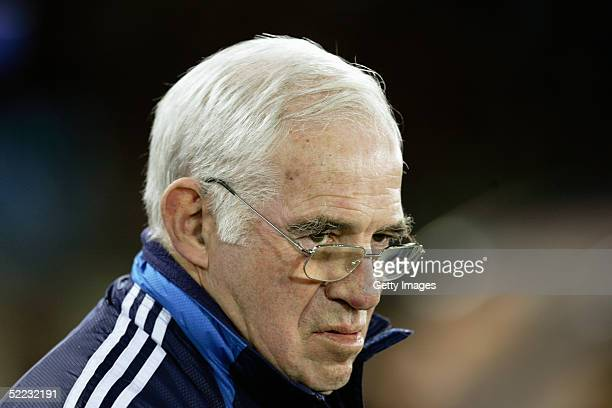 A portrait of Luis Aragones coach of Spain prior to the World Cup Qualifier between Spain v San Marino held at the Estadio Juan Rojas on February 9...
